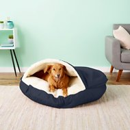 Snoozer Pet Products Cozy Cave Dog & Cat Bed, Navy, X-Large