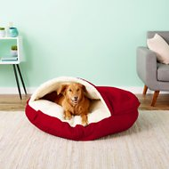 Snoozer Pet Products Cozy Cave Dog & Cat Bed, Red, X-Large