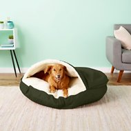Snoozer Pet Products Cozy Cave Dog & Cat Bed, Olive, X-Large