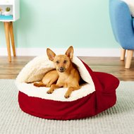 Snoozer Pet Products Orthopedic Cozy Cave Dog & Cat Bed, Red, Small