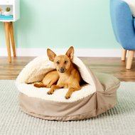 Snoozer Pet Products Orthopedic Cozy Cave Dog & Cat Bed, Khaki, Small