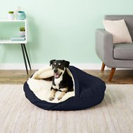 Snoozer Pet Products Orthopedic Cozy Cave Dog & Cat Bed, Navy, Large