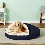 Snoozer Pet Products Orthopedic Cozy Cave Dog & Cat Bed, Navy, X-Large