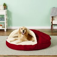 Snoozer Pet Products Orthopedic Cozy Cave Dog & Cat Bed, Red, X-Large