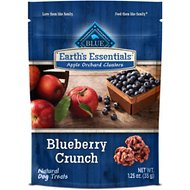 Blue Buffalo Earth's Essentials Apple Orchard Clusters Blueberry Crunch Recipe Dog Treats, 1.25-oz bag