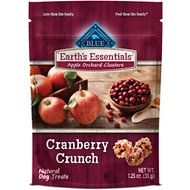 Blue Buffalo Earth's Essentials Apple Orchard Clusters Cranberry Crunch Recipe Dog Treats, 1.25-oz bag
