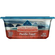 Blue Buffalo Earth's Essentials Pacific Feast Salmon & Lentil in Gravy Recipe Dog Food Trays, 8-oz, case of 8