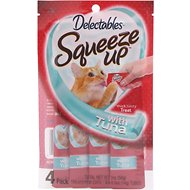 Hartz Delectables Squeeze Ups Tuna Lickable Cat Treat, 2.0-oz, Pack of 4