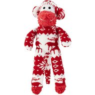 Multipet Holiday Nordic Monkey Plush Dog Toy, Color Varies, 12-in