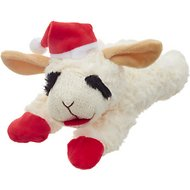 Multipet Holiday Lamb Chop Plush Dog Toy, 10-in
