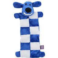 Multipet Hanukkah Loofa Squeaker Mat Plush Dog Toy, 12-in