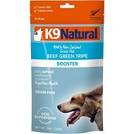 K9 Natural Beef Green Tripe Booster Freeze-Dried Dog Food Topper, 2.6-oz bag