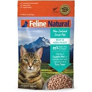 Feline Natural Beef & Hoki Feast Grain-Free Freeze-Dried Cat Food, 11-oz bag