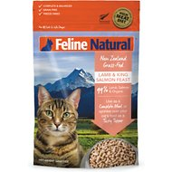 Feline Natural Lamb & King Salmon Feast Grain-Free Freeze-Dried Cat Food, 11-oz bag