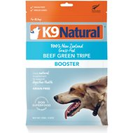 K9 Natural Beef Green Tripe Booster Freeze-Dried Dog Food Topper, 8.8-oz bag