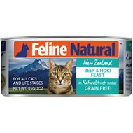 Feline Natural Beef and Hoki Feast Grain-Free Canned Cat Food, 3-oz, case of 24