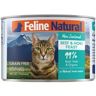 Feline Natural Beef and Hoki Feast Grain-Free Canned Cat Food, 6-oz, case of 24