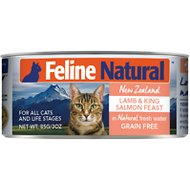 Feline Natural Lamb and Salmon Feast Grain-Free Canned Cat Food, 3-oz, case of 24