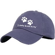 I'd Rather Be With My Dog Baseball Hat, Indigo