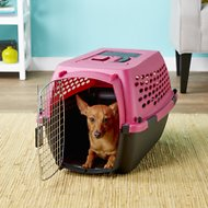 Petmate Vari Kennel Portable Dog & Cat Kennel, 24-in, Pearl Raspberry/Black