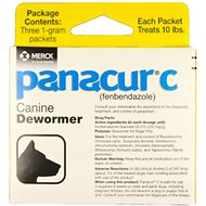 Panacur C Canine Dewormer, 1-g, 3 count