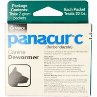 Panacur C Canine Dewormer, 2-g, 3 count