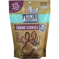 Howl's Kitchen Canine Cookies Chicken & Cranberry Flavor Dog Treats, 10-oz