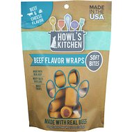 Howl's Kitchen Beef & Cheese Flavor Wrap Dog Treats, 12-oz