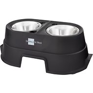 OurPets Comfort Elevated Dog & Cat Feeder, Black, 8-in