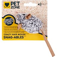 Pet Zone Snag-able Crazy Hair Mouse Cat Toy