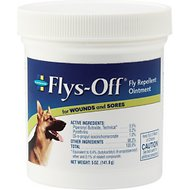 Flys-Off Fly Repellent Ointment for Dogs & Horses, 5-oz