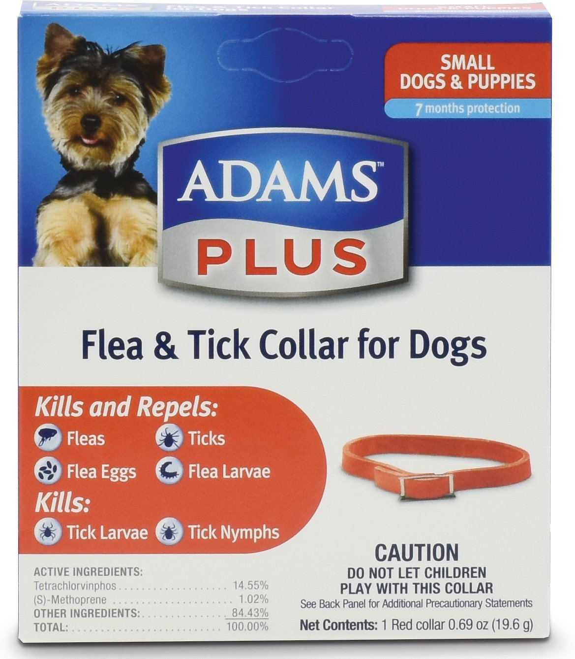 Adams Plus Flea Tick Collar For Small Dogs 15 In Chewycom