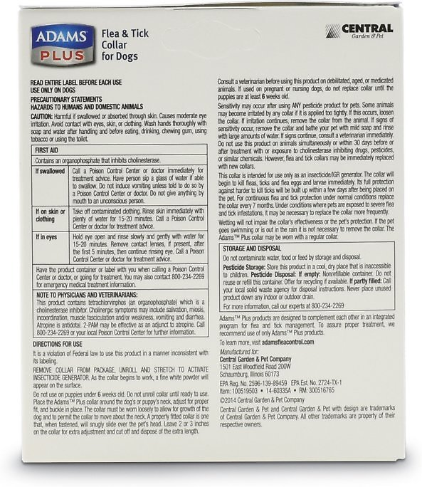 Adams Plus Flea Tick Collar For Large Dogs 26 In Chewycom