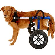 HandicappedPets Large 70-150 lbs Dog Wheelchair, Blue, 17-20 in
