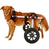 "HandicappedPets Large Dog Wheelchair, Pink, 70-150 lbs, 17-20"" leg"