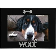 "Malden International Designs ""Woof"" Dog Picture Frame, 4 x 6 in"