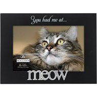 "Malden International Designs ""You had me at… Meow"" Cat Picture Frame, 4 x 6 in"