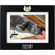 "Malden International Designs Matted ""MEOW!"" Cat Picture Frame, 4 x 6 in"