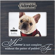 "Malden International Designs Weathered Sentiments ""Adorable"" Dog Picture Frame, 4 x 6 in"