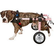 HandicappedPets Medium 26-50 lbs Dog Wheelchair, Pink, 16-18 in