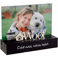 "Malden International Designs Desktop Expressions ""Woof"" Dog Picture Frame, 4 x 6 in"
