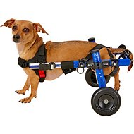 HandicappedPets Small 11 to 17 lbs Dog Wheelchair, 3-6 in, Blue