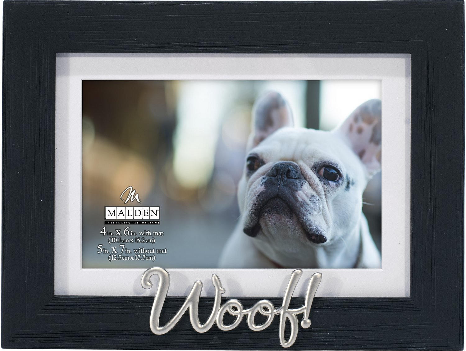Malden international designs matted woof dog picture frame 4 x roll over image to zoom in jeuxipadfo Images