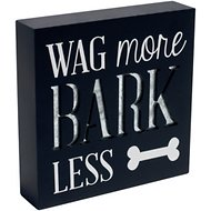 "Malden International Designs ""Wag More, Bark Less"" Wood Box Sign"