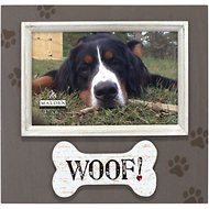 "Malden International Designs Distressed ""Woof!"" Dog Picture Frame, 4 x 6 inches"