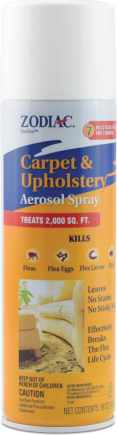 Zodiac Carpet Amp Upholstery Flea Amp Tick Aerosol Spray 16