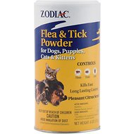 Zodiac Flea & Tick Powder for Dogs, Puppies, Cats & Kittens, 6-oz
