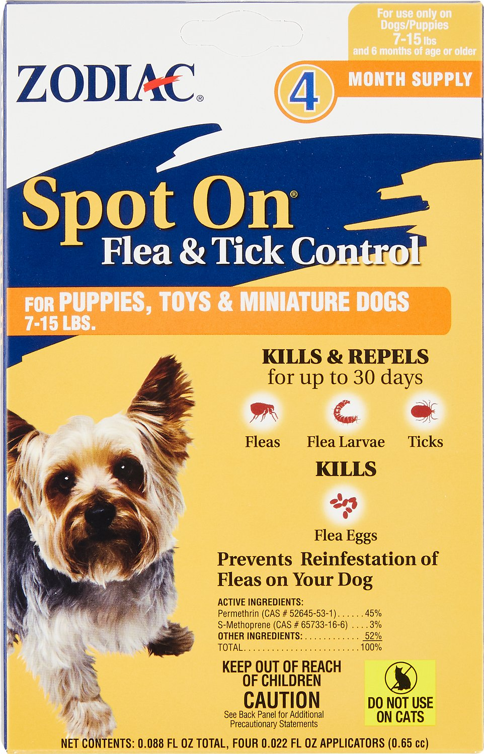 Zodiac Spot On Flea Amp Tick Control For Puppies Amp Toy Dogs