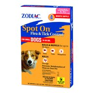 Zodiac Spot On Flea & Tick Control for Small Dogs 16-30 lbs, 4 treatments