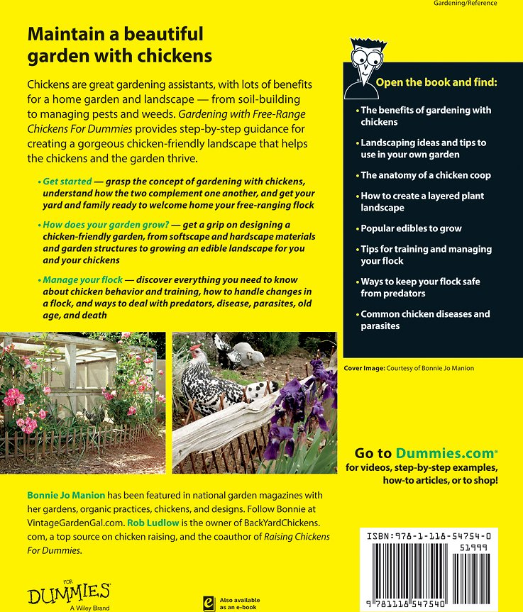 Gardening with Free-Range Chickens For Dummies - Chewy com